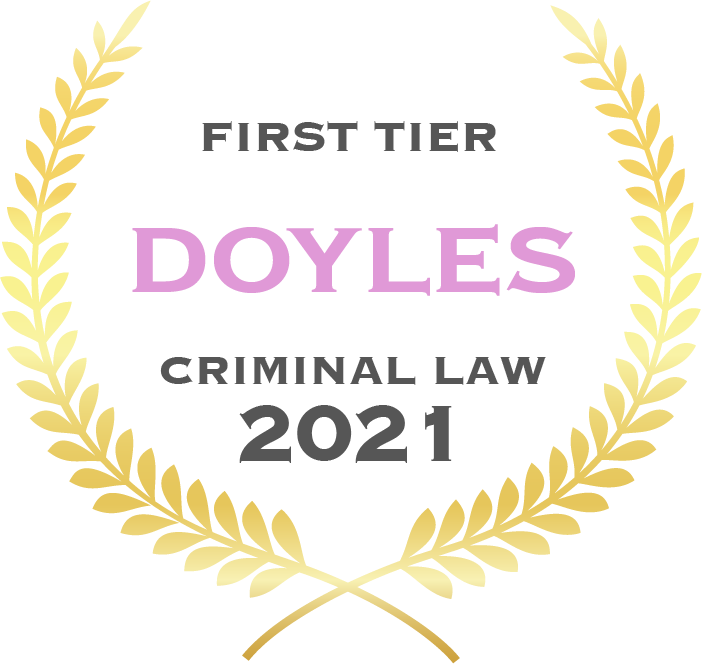 First tier Doyles criminal law 2021 - Fisher Dore Lawyers