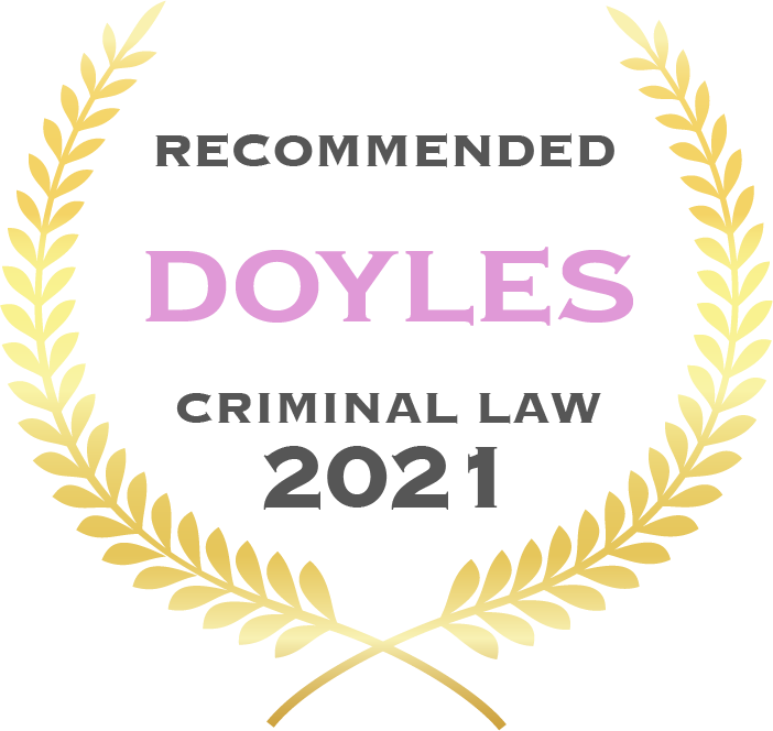 Recommended Doyles criminal law 2021 - Fisher Dore Lawyers