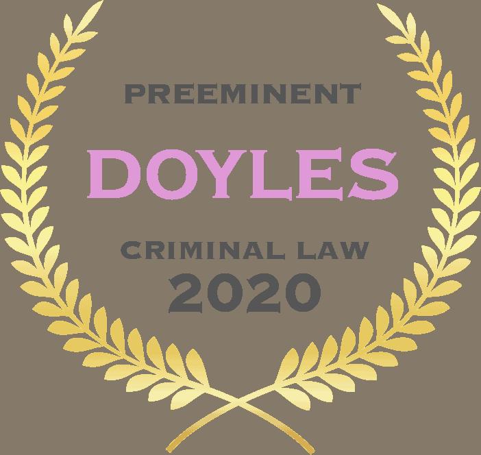 Preeminent Doyles criminal law 2020 - Fisher Dore Lawyers