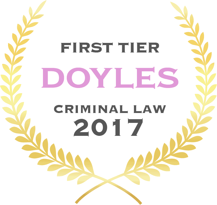 First tier Doyles criminal law 2017 - Fisher Dore Lawyers