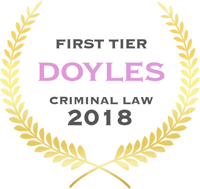 First tier Doyles criminal law 2018 - Fisher Dore Lawyers