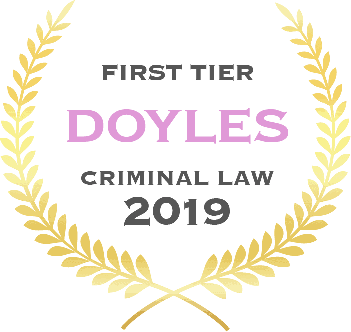 First tier Doyles criminal law 2019 - Fisher Dore Lawyers