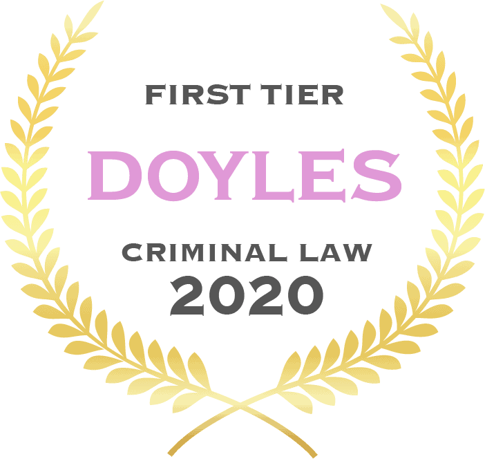 First tier Doyles criminal law 2020 - Fisher Dore Lawyers